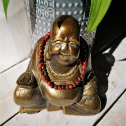 bracelet oeil de taureau 4mm bouddha