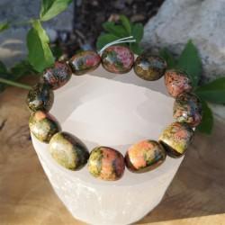 Bracelet unakite pierre roulée