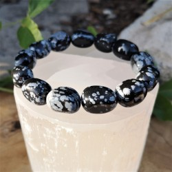Bracelet obsidienne flocon...