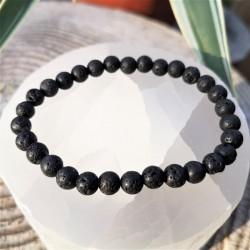 Bracelet pierre de lave 6mm