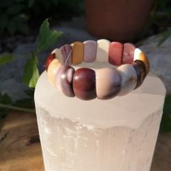 Bracelet mokaite plaque