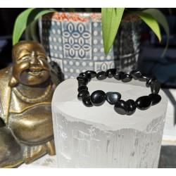 bracelet obsidienne œil céleste nuggets