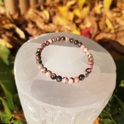Bracelet rhodonite 4mm enfant