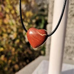 Pendentif coeur percé jaspe...