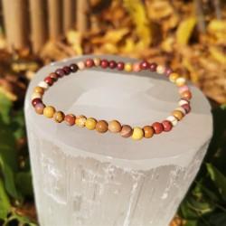 Bracelet mokaite 4mm