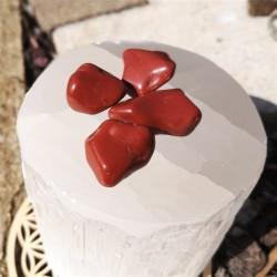 pierre roulée jaspe rouge