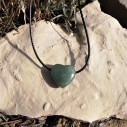 cœur percé aventurine verte