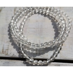 bracelet cristal de roche 4mm