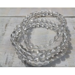 bracelet cristal de roche 6mm