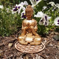 petite statue bouddha doré