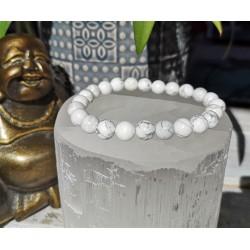 bracelet howlite 8mm