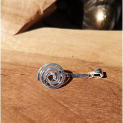 porte donut spirale argenté